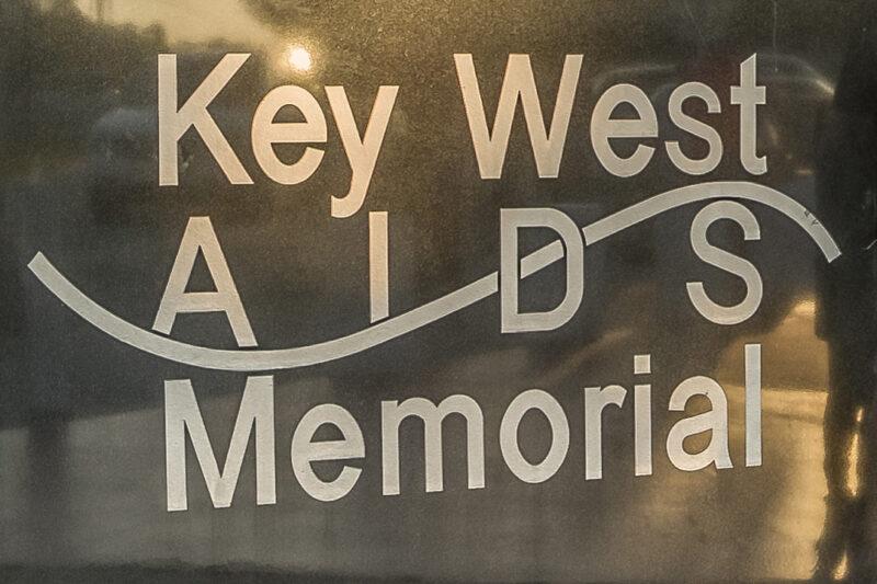 Key West AIDS memorial plaque.